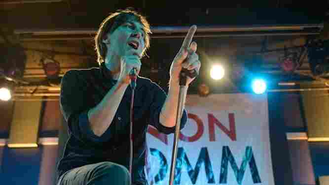 French indie-rock band Phoenix performs on stage at the 13th Annual Non-COMMvention in Philadelphia in May.