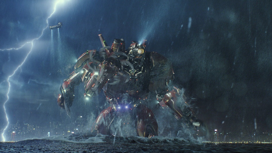 The Jaegers of del Toro's Pacific Rim are inspired by the mecha tradition in Japanese cinema. (Warner Bros. Pictures)