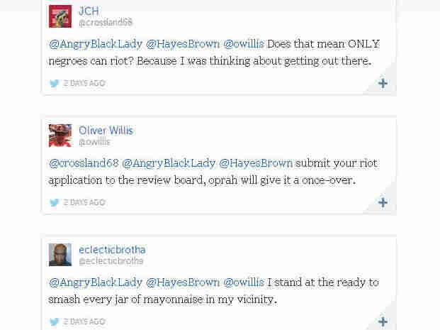 Storify of riot tweets