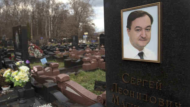 Sergei Magnitsky, who died in jail in 2009, was convicted of tax evasion on July 11, 2013. Kremlin critics say this was just the strangest of several legal cases against government opponents. (AP)