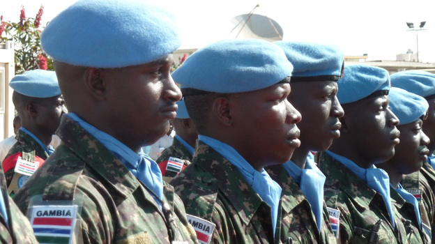 Peacekeepers of the joint African Union-United Nations Mission in Darfur (UNAMID) in 2012. (AFP/Getty Images)