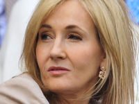 British author J.K. Rowling pictured at the 2013 Wimbledon Championships tennis tournament in June.
