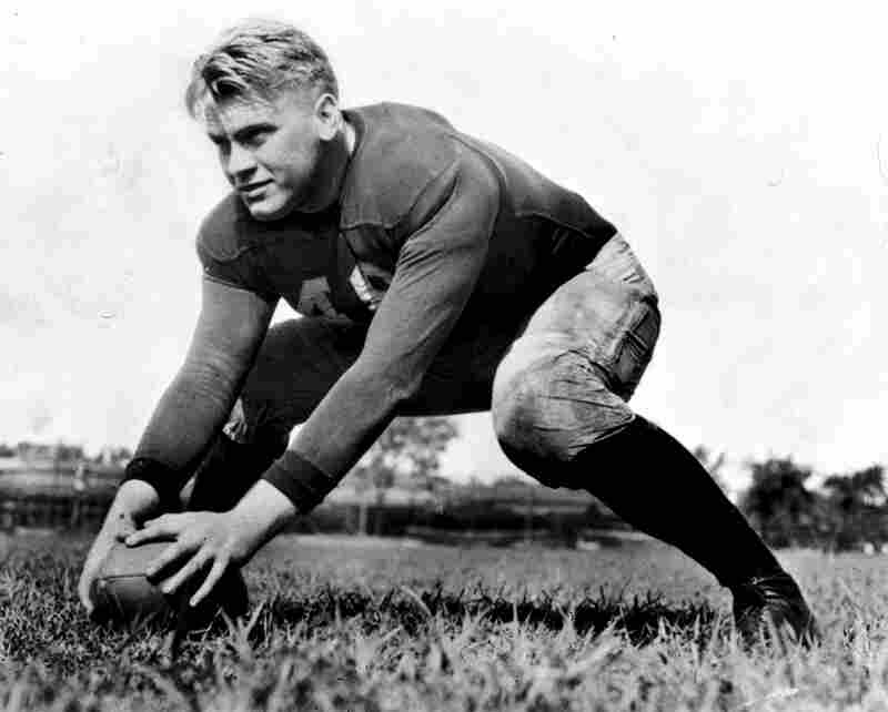 Gerald Ford played football for the University of Michigan in 1934.