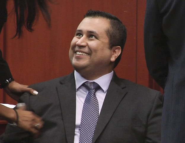 "Zimmerman didn't talk to the media after his exoneration, but his lead lawyer said they were ""ecstatic with the results."" (AP)"