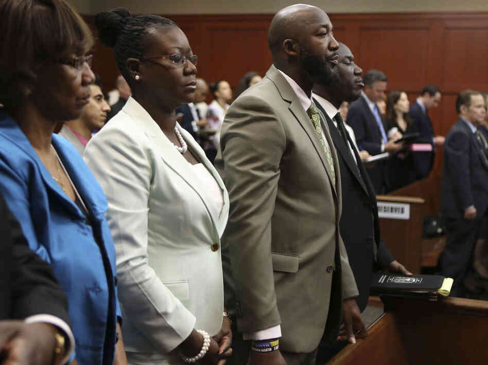 Many families live in dread of standing in the shoes of Trayvon Martin's parents. His mother, Sybrina Fulton (second from left) and father, Tracy Marti