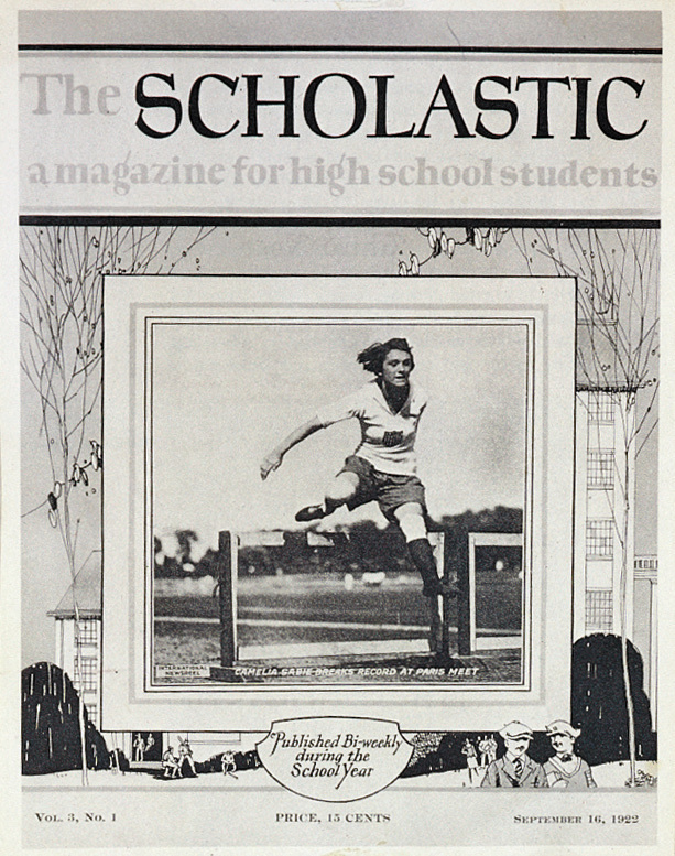 Scholastic started out in 1920 as a four-page magazine written for high school students. Above, an early issue published in September 1922.