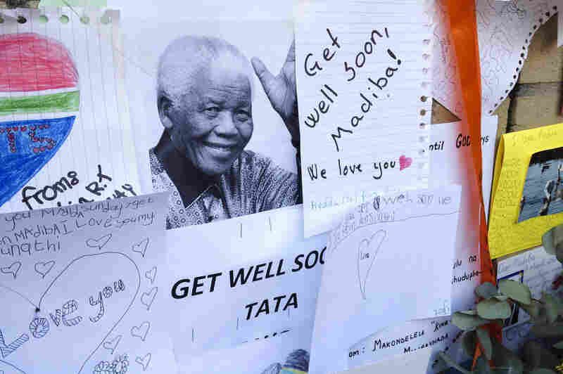 """The notes for Mandela often call him """"Madiba,"""" his clan name, or """"tata,"""" which means """"father"""" in his native Xhosa language."""