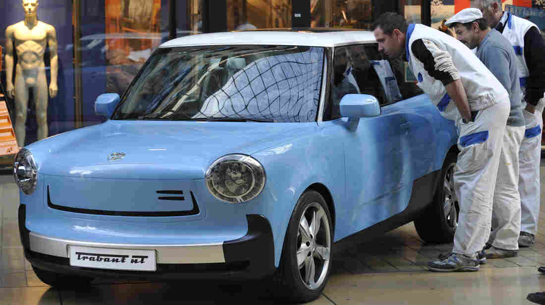 The Trabant NT is presented during a show at a shopping center in Dresden, Germany, in November 2009.