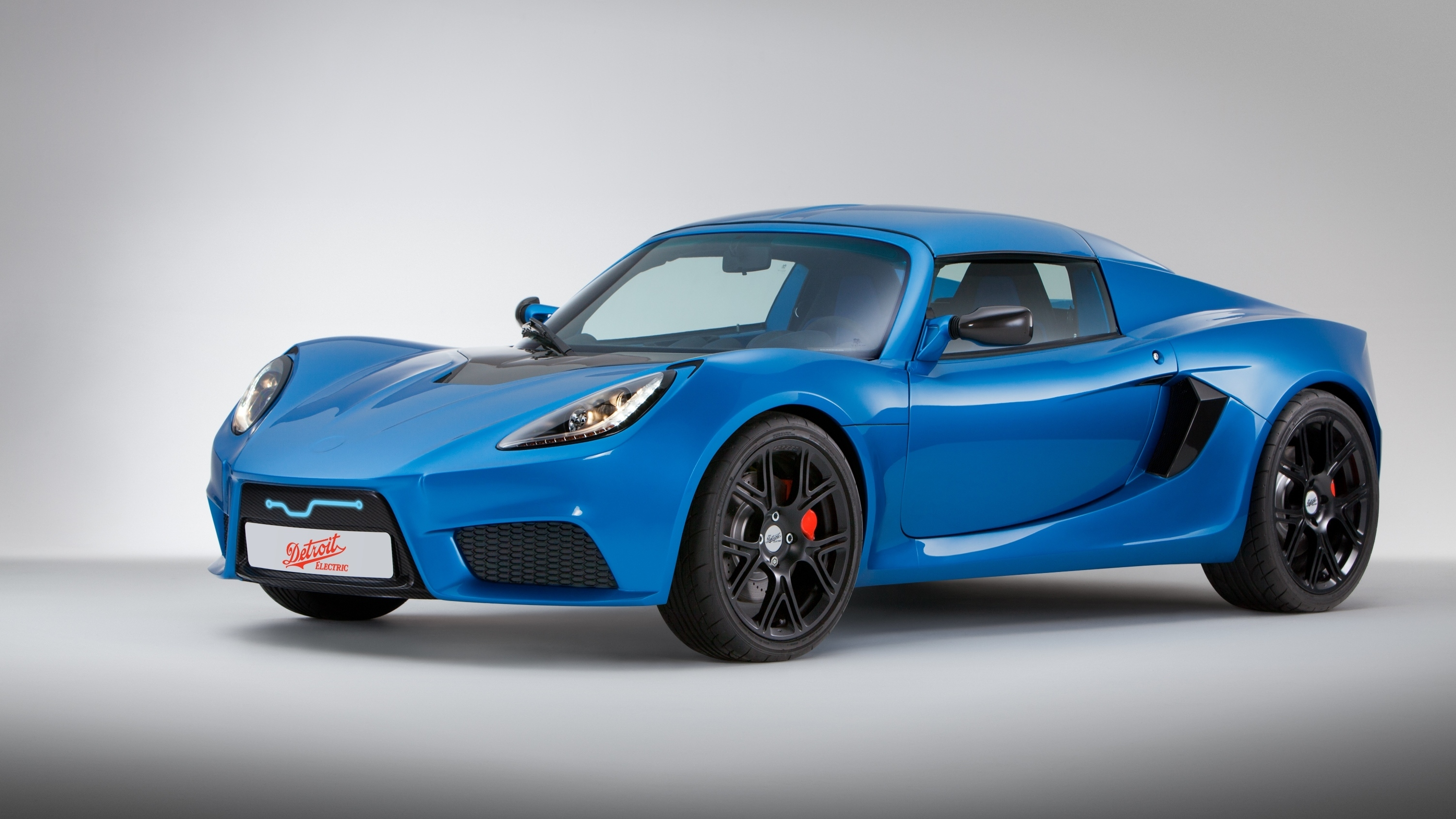This image provided by Detroit Electric shows the automaker's SP:01, a limited-edition electric sports car. The company was revived in 2008. Last month it announced that production would be delayed by a month. The model is priced at $135,000.