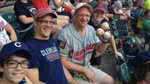 Greg Van Niel, a season-ticket holder who wasn't sitting in his usual seat, grabbed four foul balls Sunday during the Indians' 6-4 win over the Kansas City Royals. He reportedly kept the first three balls and flipped the fourth to nearby fans.