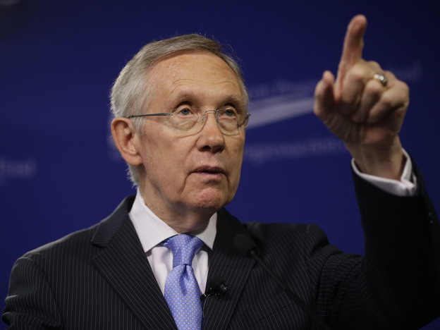 Senate Majority Leader Harry Reid warns that if Republicans don't relent on filibusters, they will leave him no choice but to change the chamber's rules. (AP)