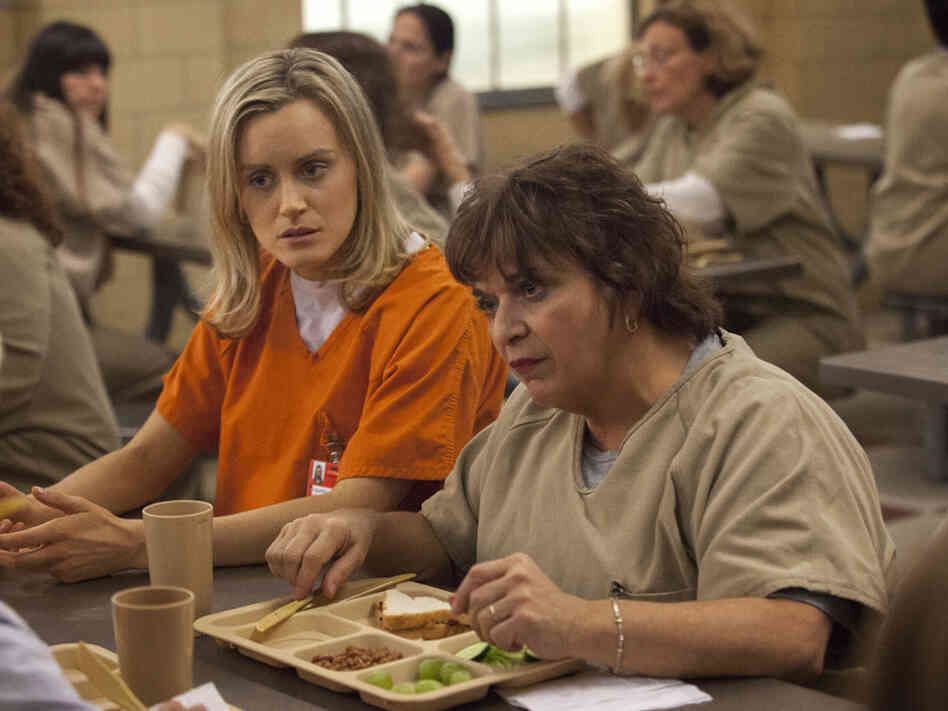 Schilling and Lin Tucci in the Netflix series Orange Is the New Black