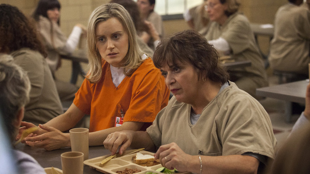 Taylor Schilling and Lin Tucci in the Netflix series Orange Is the New Black. (Netflix)