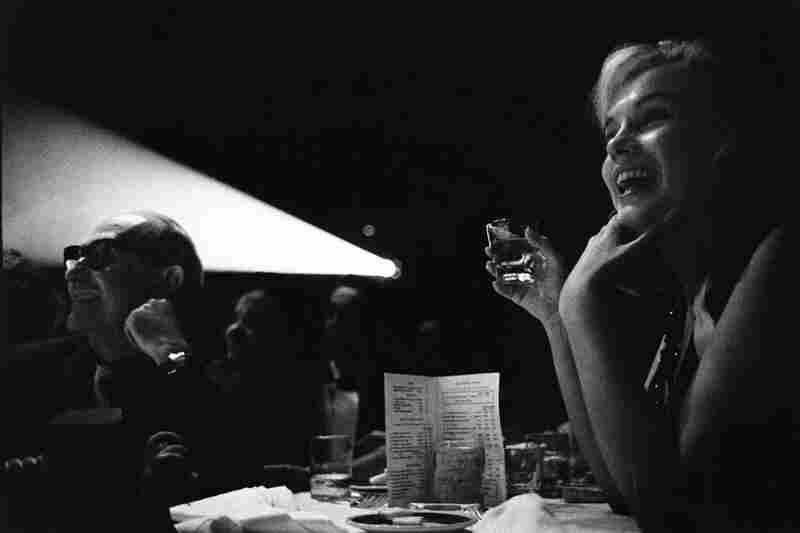 Marilyn Monroe and Lee Strasberg watching The Misfits, Reno, Nev., 1960