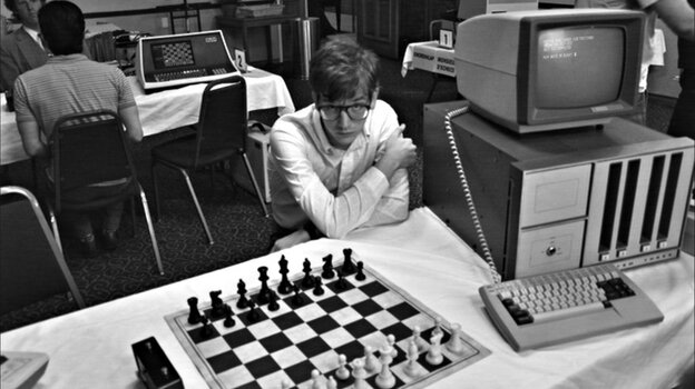 Patrick Riester plays one of the alpha geeks competing in a game-writing tournament in Computer Chess, a willfully odd comedy from mumblecore pioneer Andrew Bujalski.