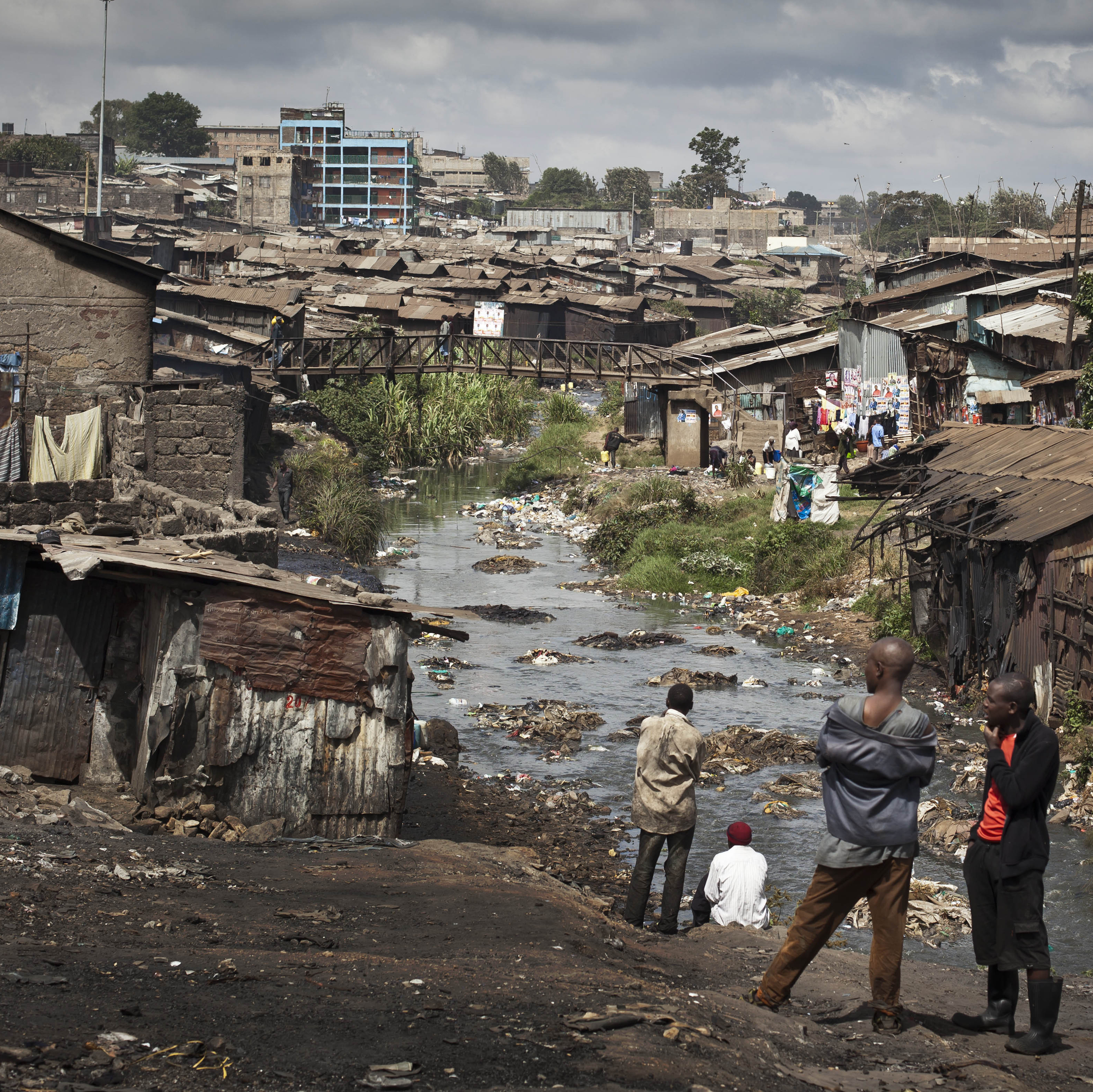 A view of the Mathare slum in Nairobi, Kenya, in February. Residents are using hand-held GPS devices to map it.