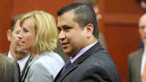 George Zimmerman leaves the courtroom in Sanford, Fla., after being found not guilty Saturday.