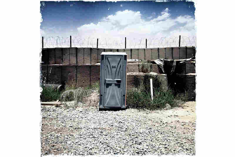 "With no running water on most combat outposts, portable toilets dot every corner of the landscape. Most soldiers, when asked what they miss most about home, will say, ""flushing the toilet."""