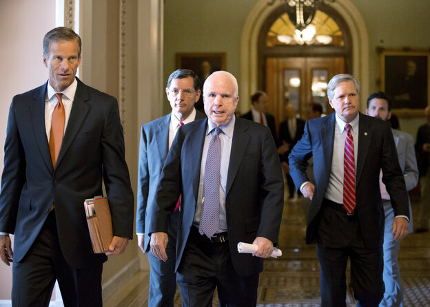 Arizona Republican Sen. John McCain was credited by Senate Majority Leader Harry Reid with playing a crucial role in the filibuster pact.