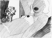 Study for Great American Nude #57, 1964. Pencil on paper, 8.875 x 11.875 in.