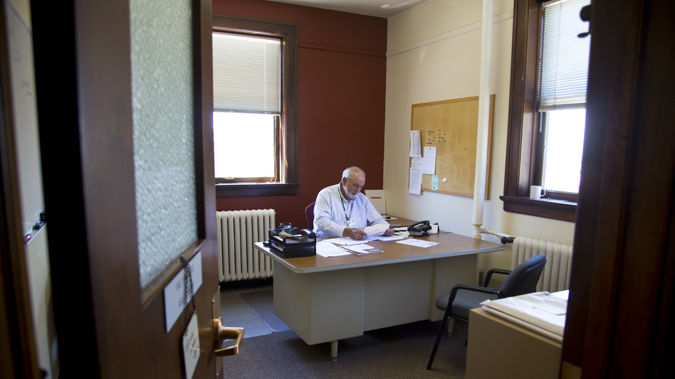 Dale Hippensteel, manages the Sheboygan County health department. (For NPR)