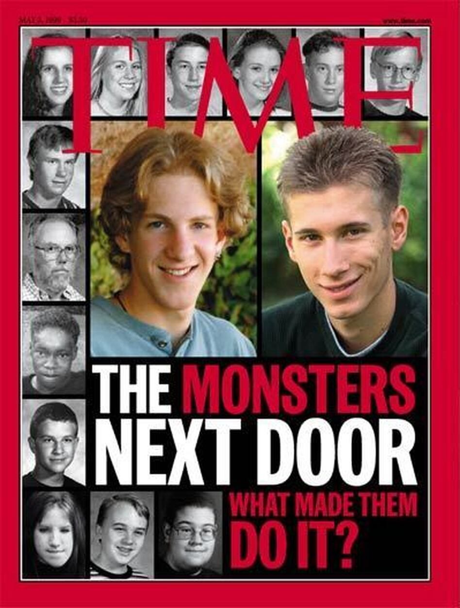 Time's cover on the Columbine shooters. (Time magazine)