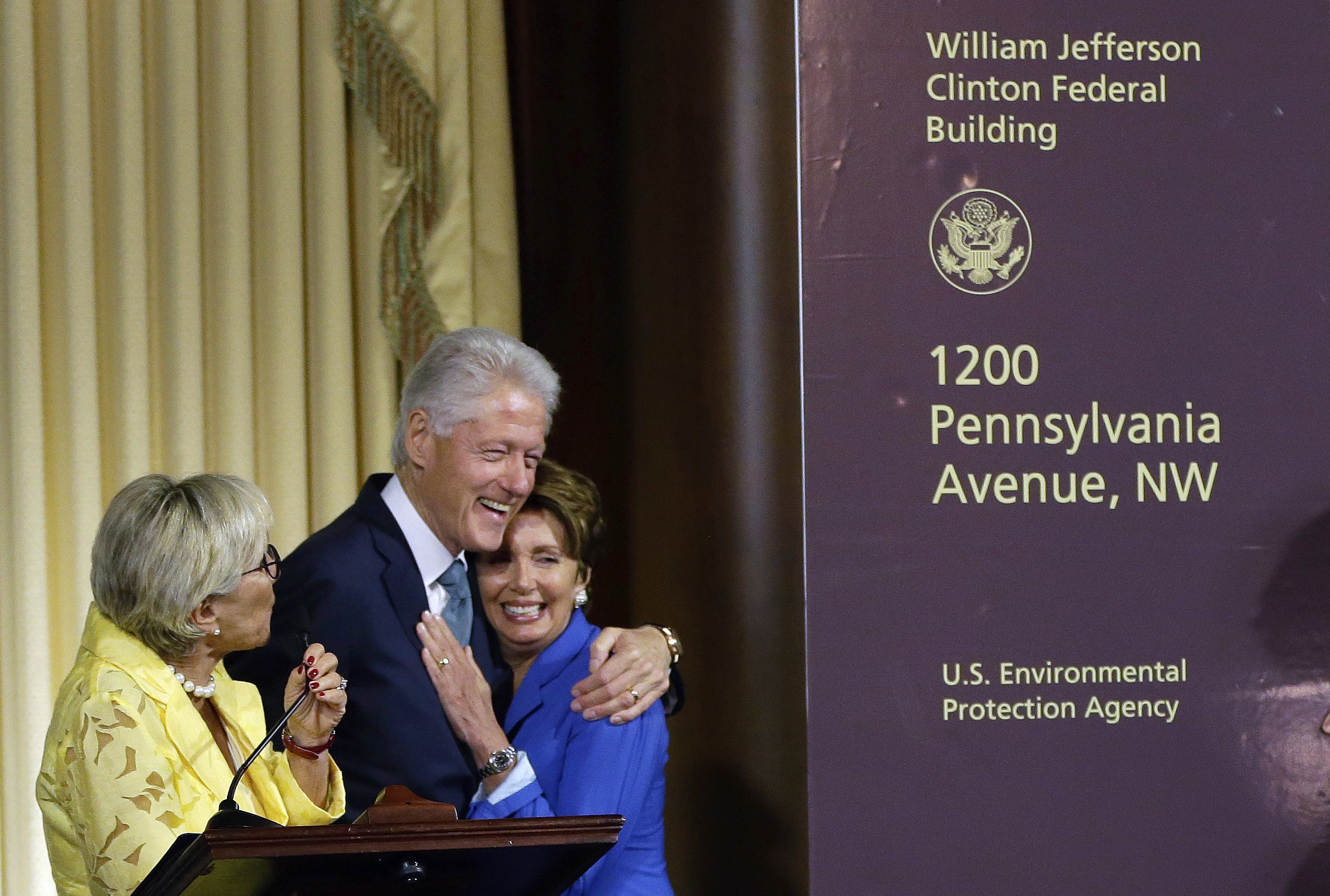 EPA Building Named For Bill Clinton; He Says That's Fitting