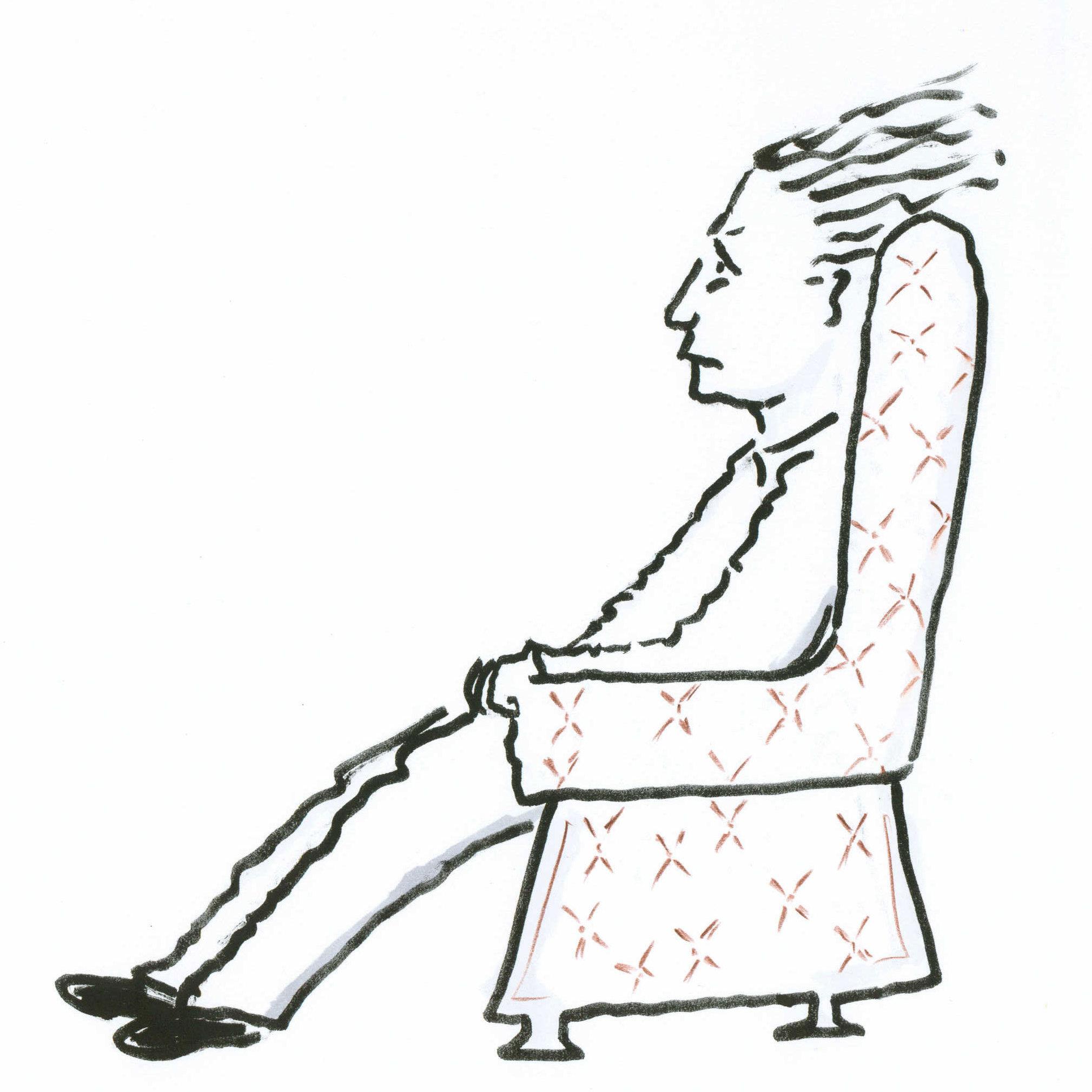 Man in Chair, setting #2.