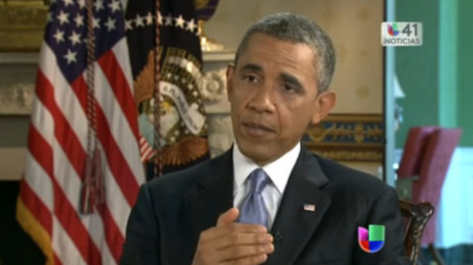 President Obama has enough problems with Congress without waving the red cape of a presidential amnesty to immigrants in the U.S. illegally. (Univision screen shot)