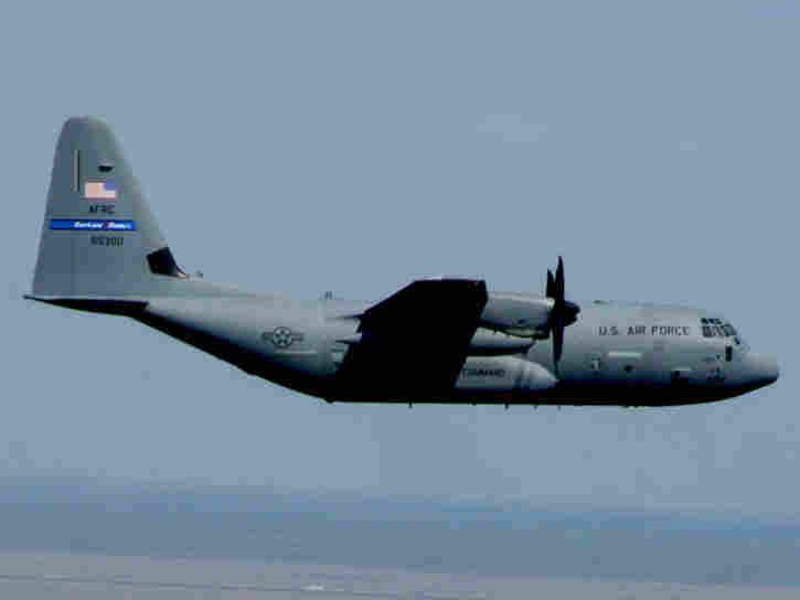 """A WC-130J """"Hurricane Hunter"""""""