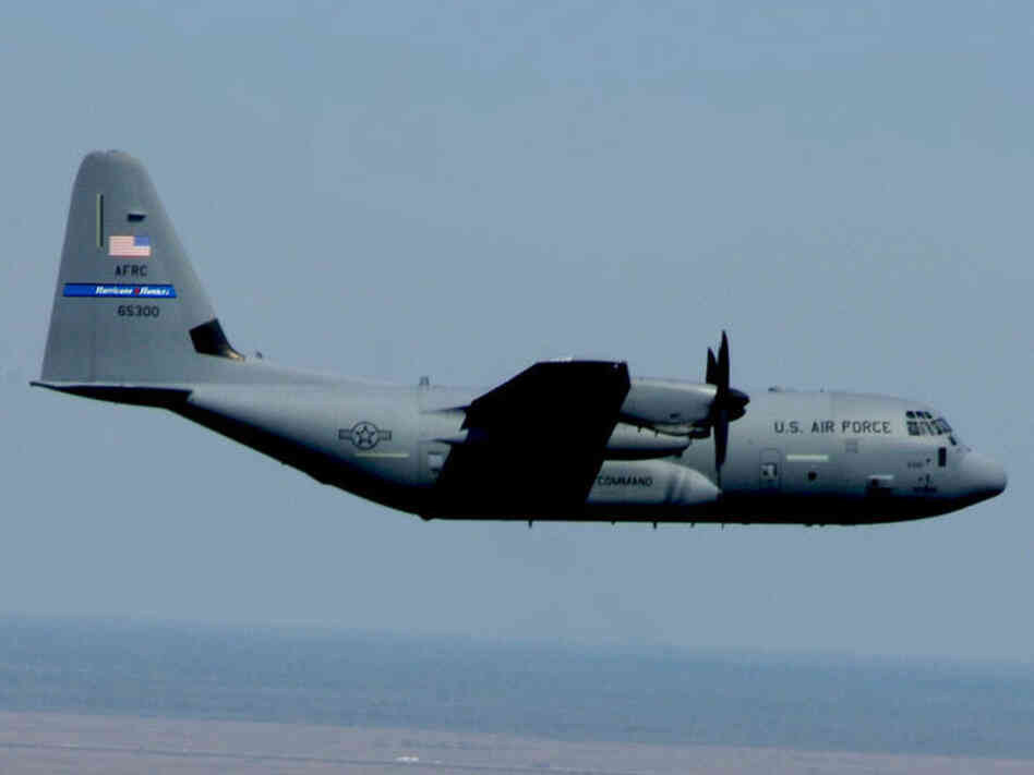 "A WC-130J ""Hurricane Hunter"""