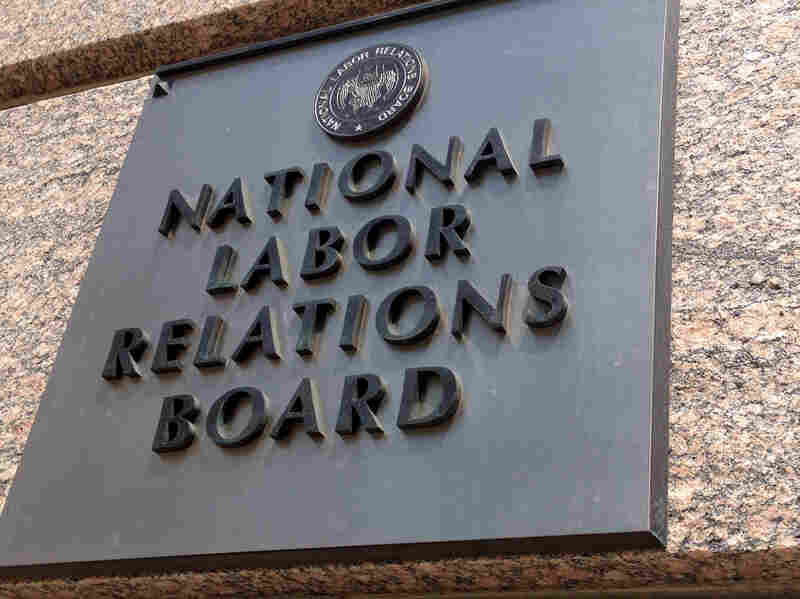 The National Labor Relations Board building in downtown Washington.