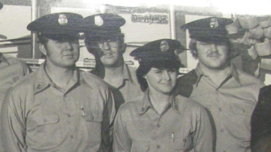 Judy Brewer became the nation's first career full-time female firefighter in Arlington County, Va., in 1974. (Courtesy of the Arlington County Fire Department)