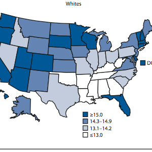 Whites and blacks have very different life expectancies in some states.