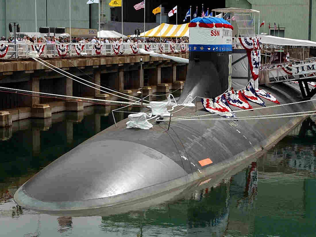 The nuclear-powered attack submarine USS Jimmy Carter in 2004.