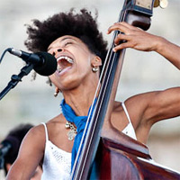 Esperanza Spalding at the Newport Jazz Festival in 2009.