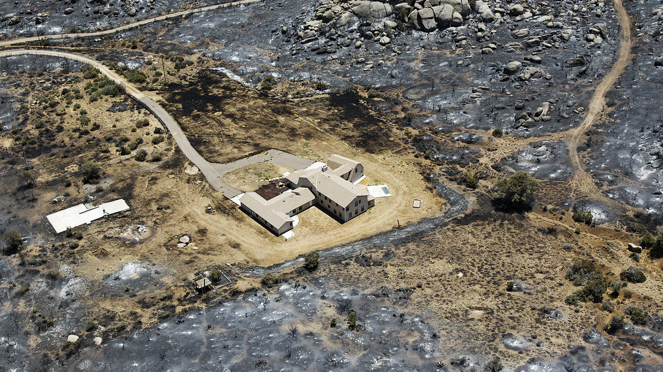 This aerial photo from July 3 shows Yarnell, Ariz., after the Yarnell Hill Fire burned through and claimed the lives of 19 members of an elite firefighting crew. (AP)