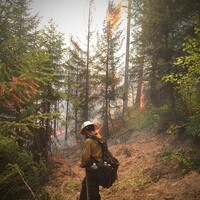 """As smoke hindered my breathing and sweat entered my eyes, I pulled my iPhone from my left chest pocket to make an attempt at capturing the fire making a push towards the line. The humidity was so high, my thumb couldn't slide the camera open ... It was time to stash the phone and move."""