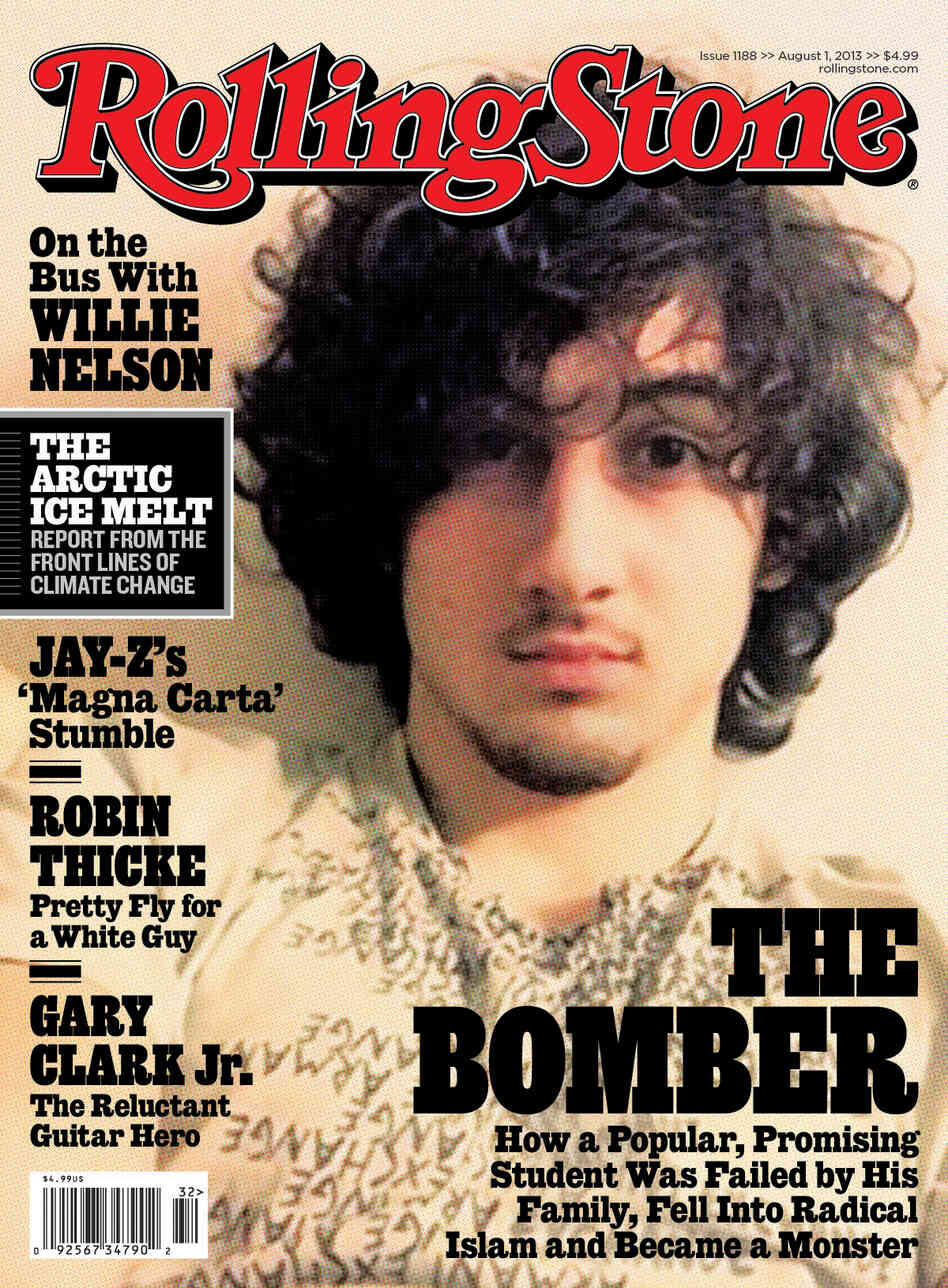 In this magazine cover image released by Wenner Media, Boston Marathon bombing suspect Dzhokhar Tsarnaev appears on the cover of the Aug. 1, 2013, issue of Rolling Stone.