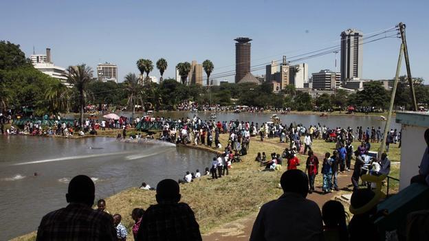 Crompton's novel begins in Nairobi's Uhuru Park. (AP)