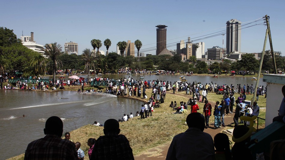 Crompton's novel begins in Nairobi's Uhuru Park. (AP)