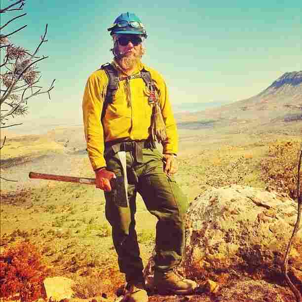 Wildland firefighter and photographer Gregg Boydston in Arizona.