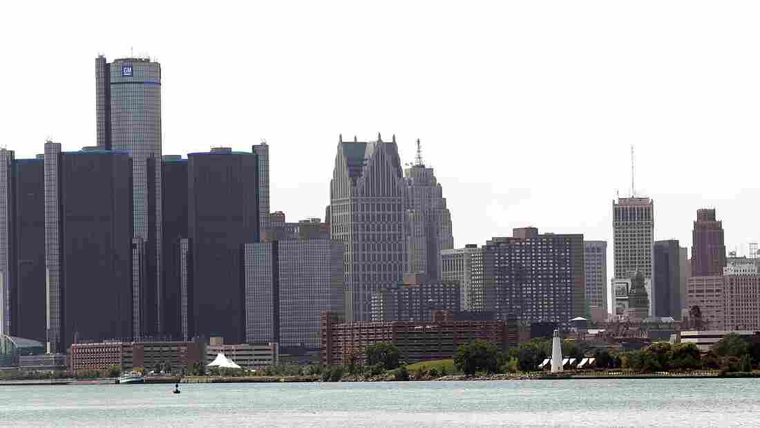 The city of Detroit's skyline.
