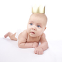 Baby with crown. Not actual royal baby.