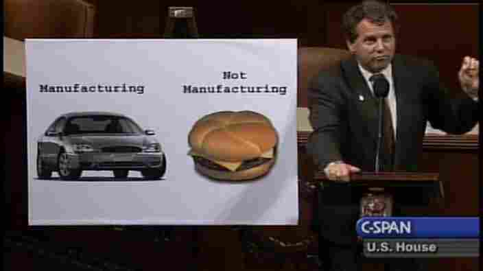 A chart from Sen. Sherrod Brown (D-Ohio) explains what qualifies as manufacturing.