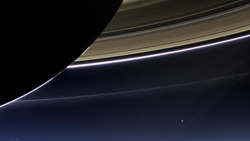 LOOK: Cassini's Version Of 'The Pale Blue Dot'