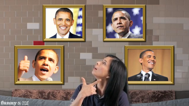 Comedian Sarah Silverman helped get out the vote for Obama in 2008 and 2012. (YouTube)