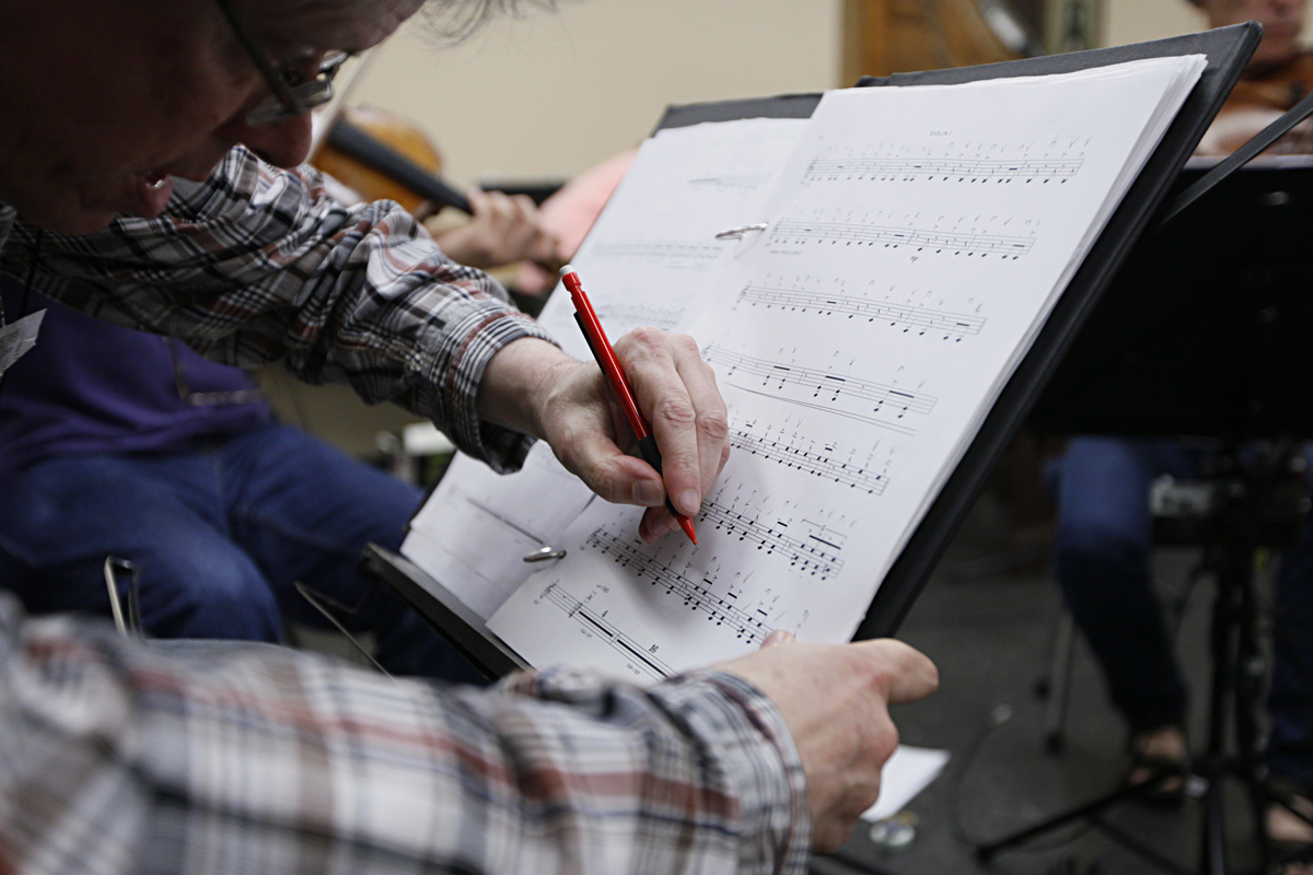 Working collaborations with living composers mean edits to the scores -- even mid-rehearsal -- as performers figure out what works and what might need further revision or clarification.