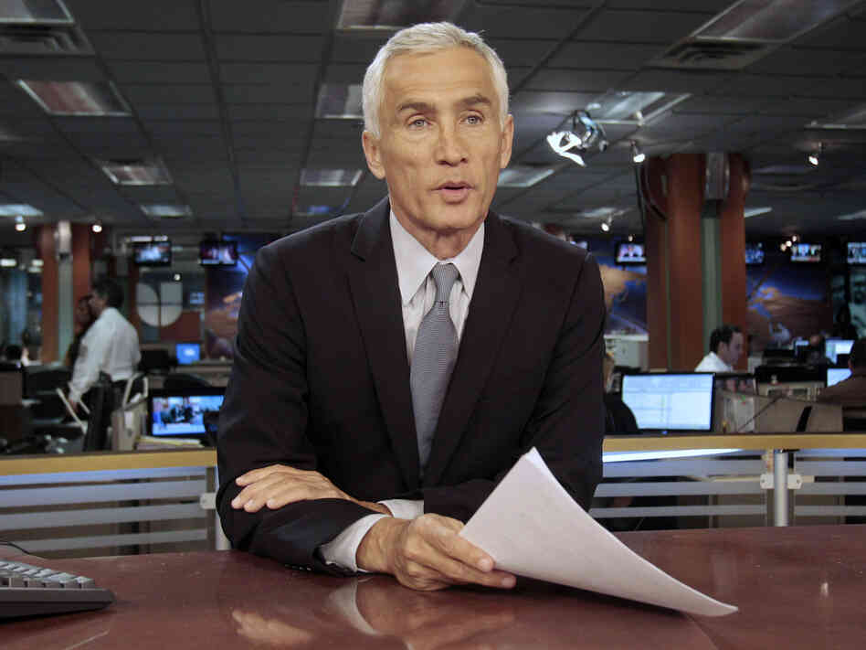 Univision newscaster Jorge Ramos anchors Noticiero Univision, the top-ranked newscast on Spanish-language TV.