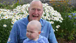 George H.W. Bush Shaves His Head In Support Of Ailing Boy